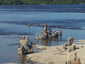 Inukshuks at Remic Rapids Ottawa